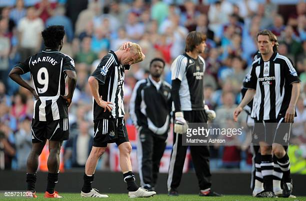 Damien Duff of Newcastle United pictured at the end of the game after he scored an own goal to relegate his team