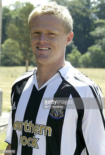 Damien Duff pictured for the first time as a Newcastle United player on July 23, 2006 in Newcastle, England.