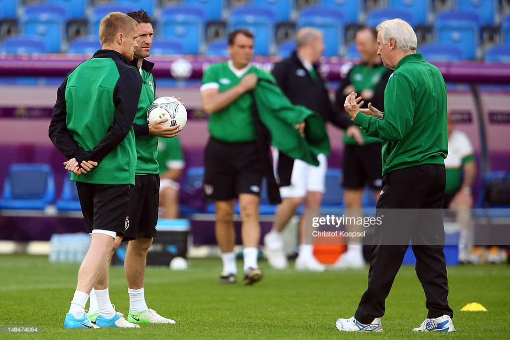 Ireland Training and Press Conference - Group C: UEFA EURO 2012