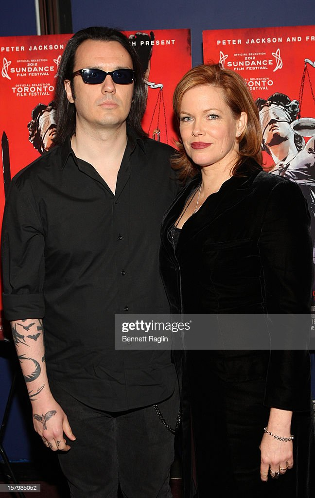 Damien Echols and Lori Davis attend the 'West Of Memphis' premier at Florence Gould Hall on December 7, 2012 in New York City.