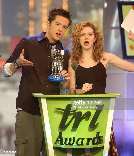 Damien Fahey and Hilarie Burton during MTV's 2003 'TRL' Awards February 17 2006 at MTV Studios Times Square in New York City New York United States