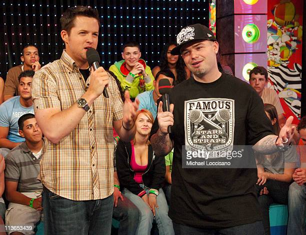 Damien Fahey and Paul Wall during Paul Wall Fall Out Boy 44The Academy Is and Cobra Starship Visit MTV's 'TRL' June 7 2007 at MTV Studios in New York...