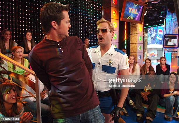 Damien Fahey and Thomas Lennon of Reno 911 during The Cast of 'Reno 911 Miami' Visits and Katharine McPhee Hosts MTV's 'TRL' February 21 2007 at MTV...