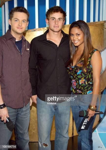 Damien Fahey Andy Roddick and MTV VJ Vanessa Minnillo