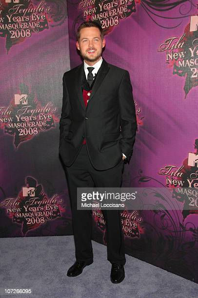 Damien Fahey attends the 2008 Tila Tequila's MTV New Year's Eve Masquerade party at MTV Times Square studio on December 31 2007 in New York City