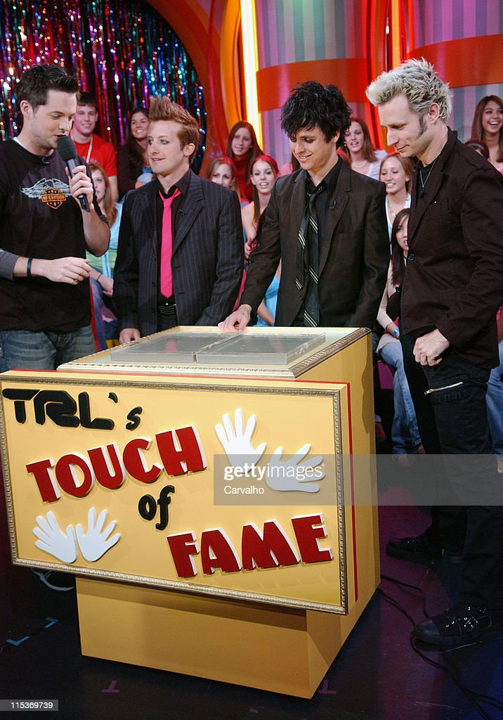 Damien Fahey, Tre Cool, Billie Joe Armstrong and Mike Dirnt of Green Day