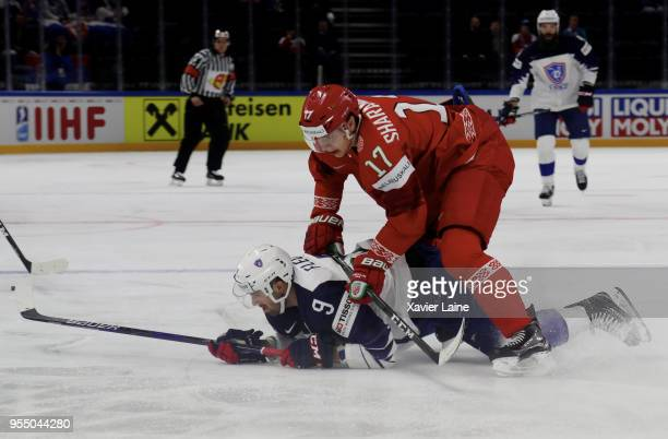 Damien Fleury of France in action during the 2018 IIHF Ice Hockey World Championship Group A between France and Belarus at Royal Arena on May 5 2018...