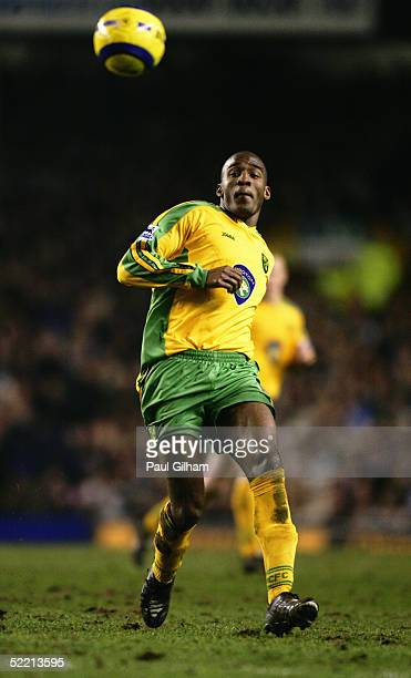 Damien Francis of Norwich City during the Barclays Premiership match between Everton and Norwich City at Goodison Park on February 2, 2005 in...