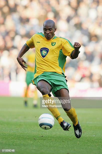 Damien Francis of Norwich City in action during the Barclays Premiership Championship match between West Bromwich Albion and Norwich City at the...