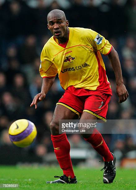 Damien Francis of Watford in action during the Barclays Premiership match between West Ham United and Watford at Upton Park on February 10, 2007 in...