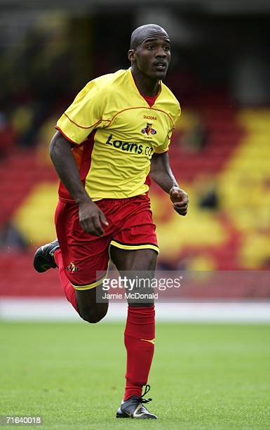 Damien Francis of Watford in action during the pre-season match between Watford and Chievo at Vicarage Road on August 13, 2006 in Watford, England.