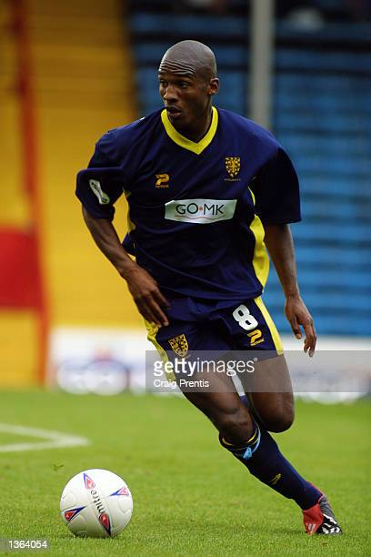 Damien Francis of Wimbledon in action during the Nationwide Division One match between Wimbledon v Brighton and Hove Albion played at Selhurst Park...
