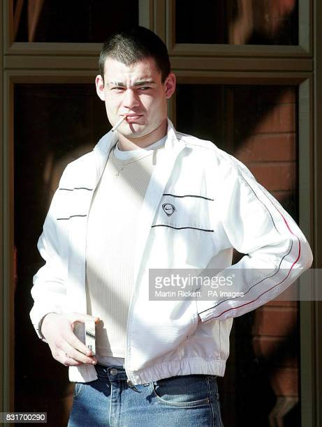 Damien French arrives at Llandudno Magistrates court Wednesday April 5 2006 to be sentenced for Animal Cruelty after he stole a rabbit from a zoo's...