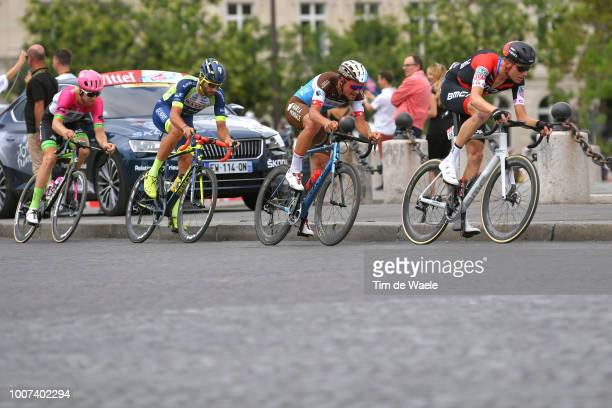 Damien Gaudin of France and Team Direct Energie / Nils Politt of Germany and Team Katusha / Guillaume Van Keirsbulck of Belgium and Team Wanty Groupe...