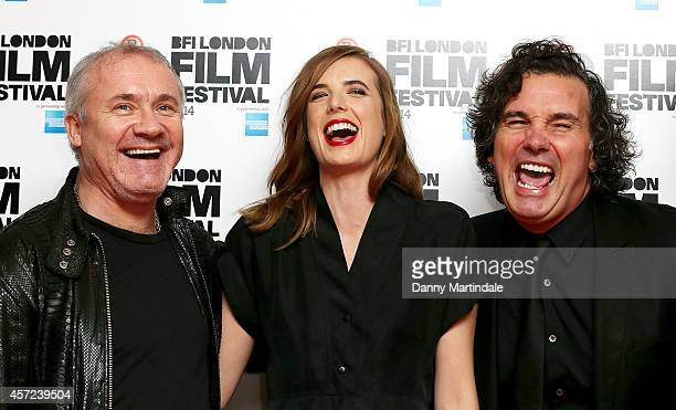 Damien Hirst Agyness Deyn and guest attends a screening of Electricity during the 58th BFI London Film Festival at Vue West End on October 14 2014 in...