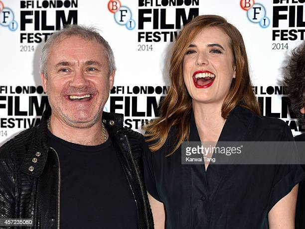 Damien Hirst and Agyness Deyn attend a screening of Electricity during the 58th BFI London Film Festival at Vue West End on October 14 2014 in London...