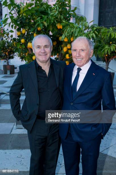 Damien Hirst and Francois Pinault attend the Cini party during the 57th International Art Biennale on May 10 2017 in Venice Italy