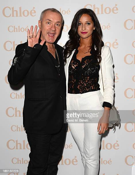 Damien Hirst and Roxie Nafousie attend a Cocktail party to Celebrate the Launch of the Book Chloe Attitudes hosted by Sarah Mower and Marc Ascoli at...