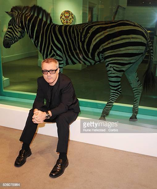 Damien Hirst attends a preview of  Beutiful Inside My Head Forever  a major  auction 55666c9edea