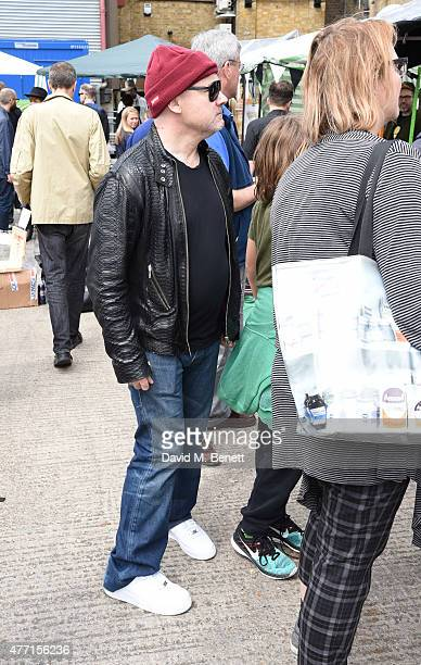 Damien Hirst attends the Vauxhall Art Car Boot Fair 2015 on June 14 2015 in London England