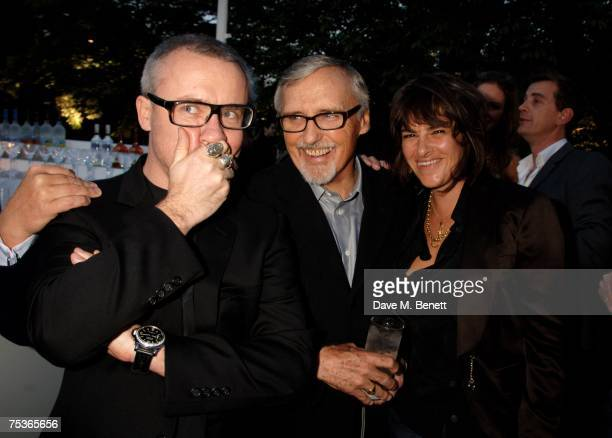 Damien Hirst Dennis Hopper and Tracey Emin attend the Serpentine Summer Party at The Serpentine Gallery on July 11 2007 in London England