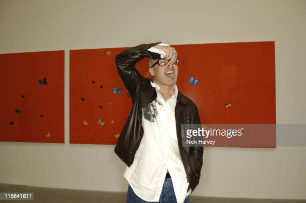 Damien Hirst during Preview party for Damien Hirst and Francis Bacon at Gagosian Gallery in London Great Britain