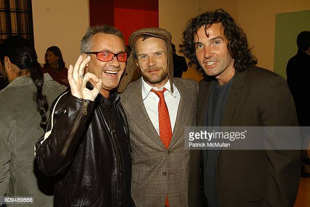 Damien Hirst Flea and Ant Genn attend Todd Eberle Opening Reception at Beverly Hills on January 6 2007