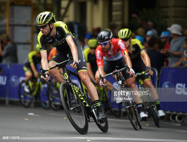 Damien Howson of Australia and MitcheltonScott competes during stage six of the 2018 Tour Down Under on January 21 2018 in Adelaide Australia