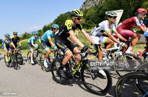 Damien Howson of Australia and Team Mitchelton-Scott / Florian Vachon of France and Team Fortuneo Samsic / Nils Politt of Germany and Team Katusha /...