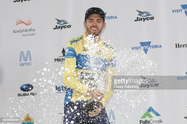 Damien Howson of Team Orica Scott celebrates winning the 2017 Jayco Herald Sun Tour on February 05 2017 in Melbourne Australia Chris Putnam /...