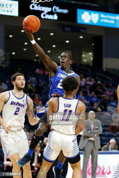 Damien Jefferson of the Creighton Bluejays shoots the ball in the game against the DePaul Blue Demons during the first half at Wintrust Arena on...