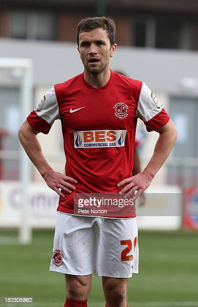 Damien Johnson of Fleetwood Town in action during the npower League Two match between Fleetwood Town and Northampton Town at Highbury Stadium on...