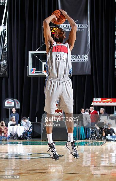 Damien Johnson of the Springfield Armor shoots the ball against the Rio Grande Valley Vipers during the 2012 NBA DLeague Showcase on January 12 2012...