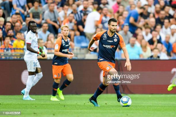 Damien Le Tallec of Montpellier during the Ligue 1 match between Montpellier and Lyon at Stade de la Mosson on August 27, 2019 in Montpellier, France.