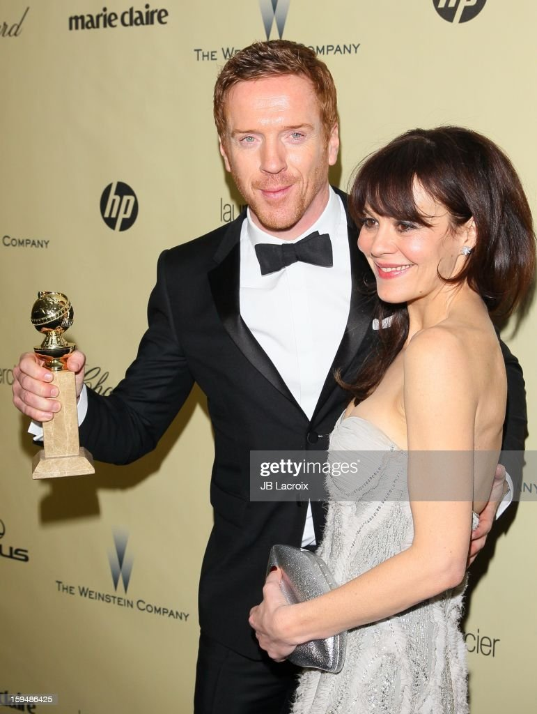 Damien Lewis and Helen McCrory attends The Weinstein Company's 2013 Golden Globes After Party at The Beverly Hilton Hotel on January 13, 2013 in Beverly Hills, California.