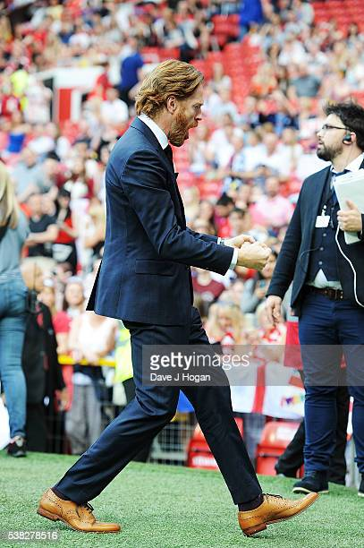 Damien Lewis attends Soccer Aid at Old Trafford on June 5, 2016 in Manchester, England.