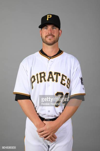 Damien Magnifico of the Pittsburgh Pirates poses during Photo Day on Wednesday February 21 2018 at LECOM Park in Bradenton Florida