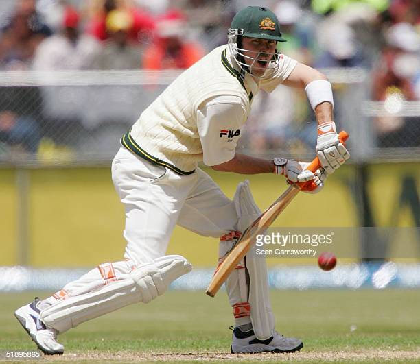 Damien Martyn of Australia in action during the second day of the Boxing Day test match between Australia and Pakistan at the Melbourne Cricket...