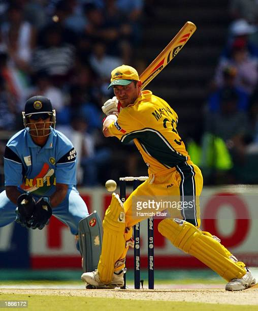 Damien Martyn of Australia in action during the World Cup Final One Day International Match between Australia and India played at the Wanderers...