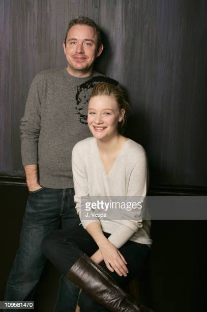 Damien O'Donnell and Romola Garai during 2005 Sundance Film Festival 'Rory O'Shea Was Here' Portraits at HP Portrait Studio in Park City Utah United...