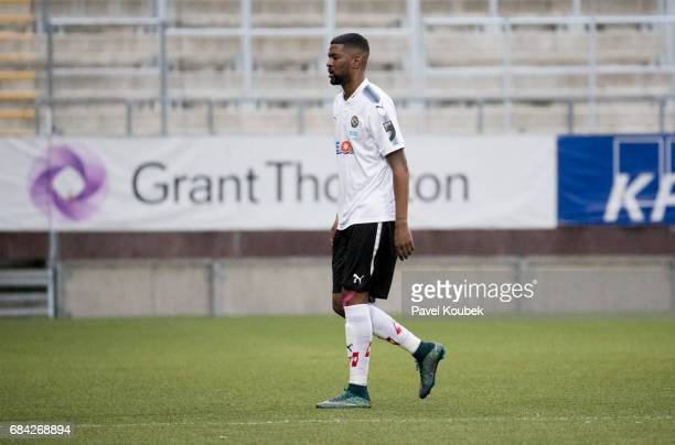 Damien Plessis of Orebro SK was given a red card during the Allsvenskan match between Orebro SK and GIF Sundsvall at Behrn Arena on May 17 2017 in...