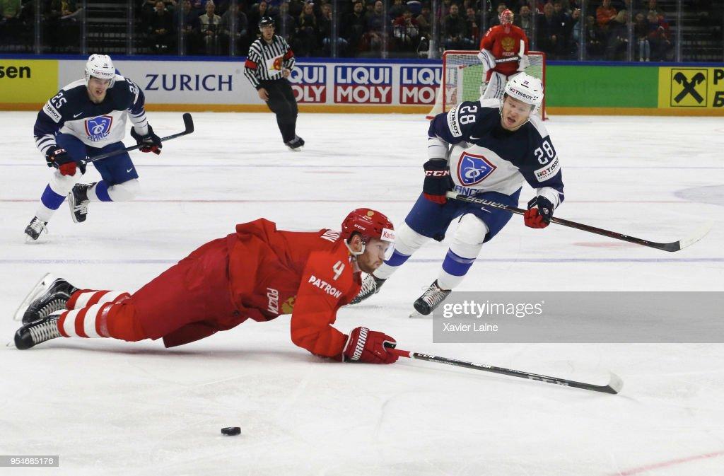 Russia v France - 2018 IIHF Ice Hockey World Championship