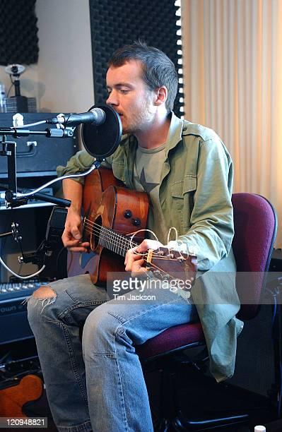 Damien Rice during Damien Rice Preforms at KBCO Studio C September 26 2003 at KBCO Studio C in Boulder Colorado United States