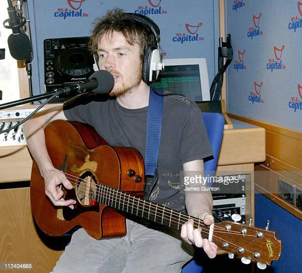Damien Rice during Damien Rice Visits Capital Radio June 21 2005 at Capital Radio in London Great Britain