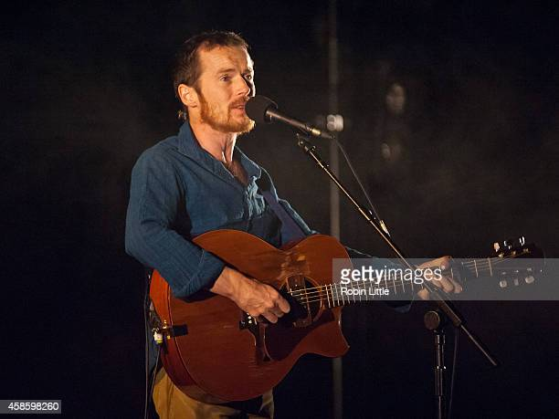 Damien Rice performs on stage at London Palladium on November 7 2014 in London United Kingdom