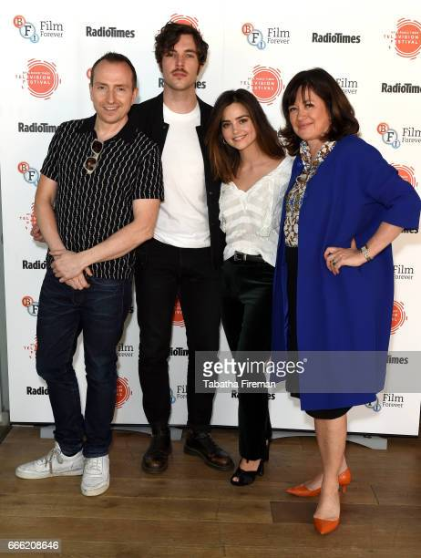Damien Timmer Tom Hughes Jenna Coleman and Daisy Goodwin attend the BFI Radio Times TV Festival at the BFI Southbank on April 8 2017 in London England