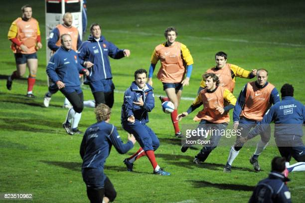 Damien TRAILLE Entrainement Equipe de France rugby Marcoussis