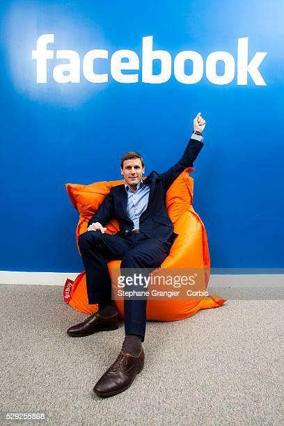Damien Vincent, Managing Business, Facebook, photographed in Paris