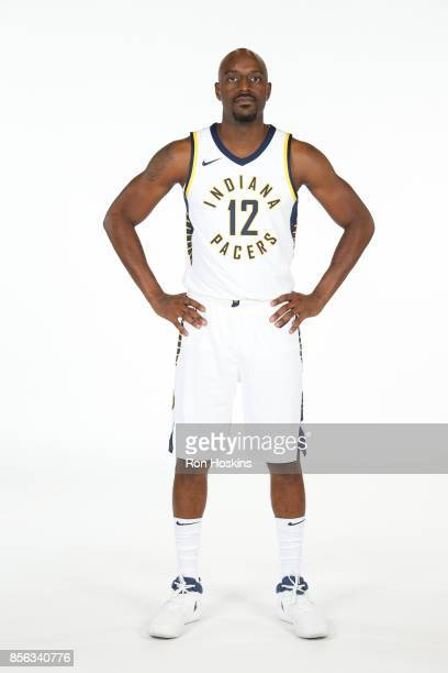 Damien Wilkens of the Indiana Pacers poses for a portrait during the Pacers Media Day at Bankers Life Fieldhouse on September 25 2017 in Indianapolis...