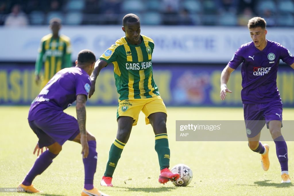 The Hague Damil Dankerlui Of Fc Groningen Lassana Faye Of Ado Den News Photo Getty Images